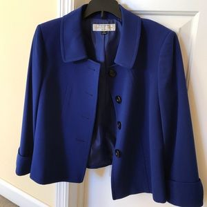 Tahari Royal blue jacket NWOT